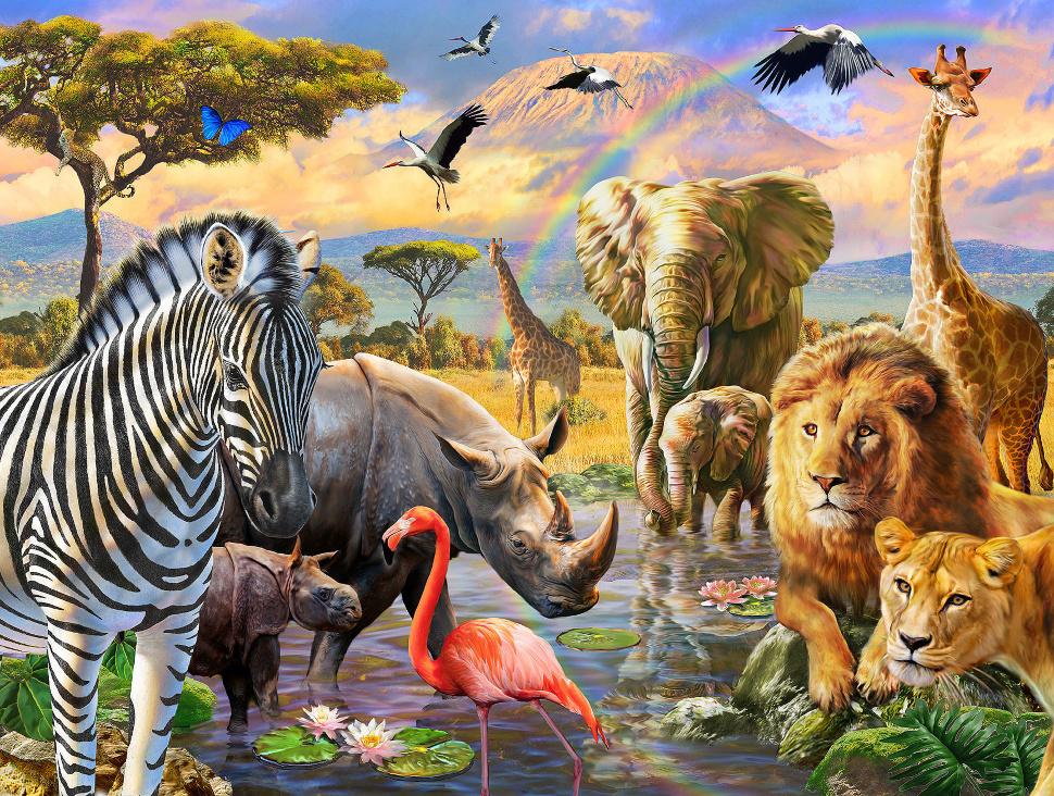 картинка на которой много животных