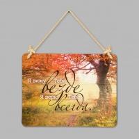 "Табличка интерьерная с дерева: ""Я вижу Тебя"""